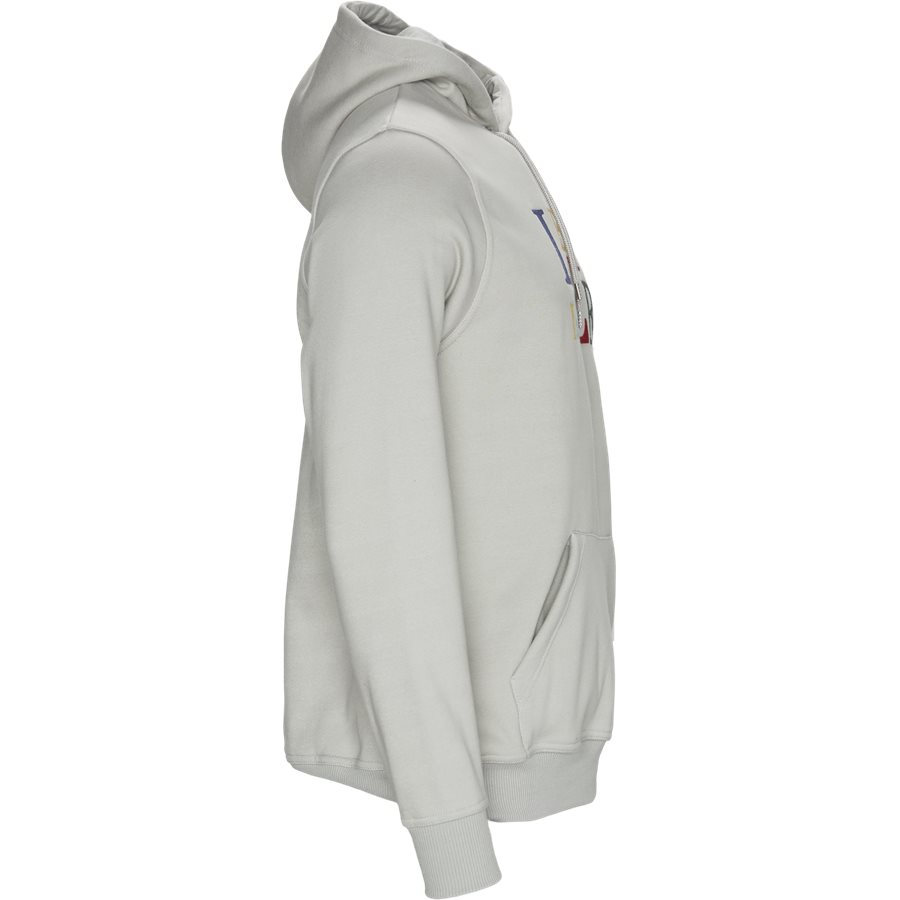 ULIVE - Ulive Hoodie - Sweatshirts - Regular - MID GREY - 4